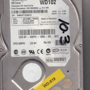Western Digital WD102BB-75BCB0 10.2GB