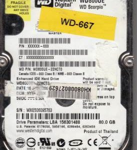 Western Digital WD800UE-22HCT0 80GB