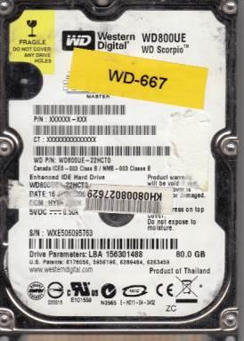 Western Digital WD800UE-22HCT0 80GB