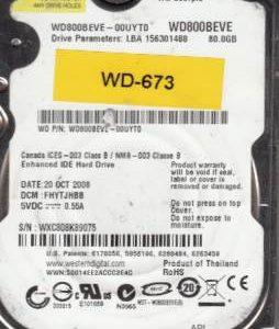 Western Digital WD800BEVE-00UYT0 80GB