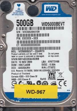 Western Digital WD5000BEVT-22A0RT0 500GB