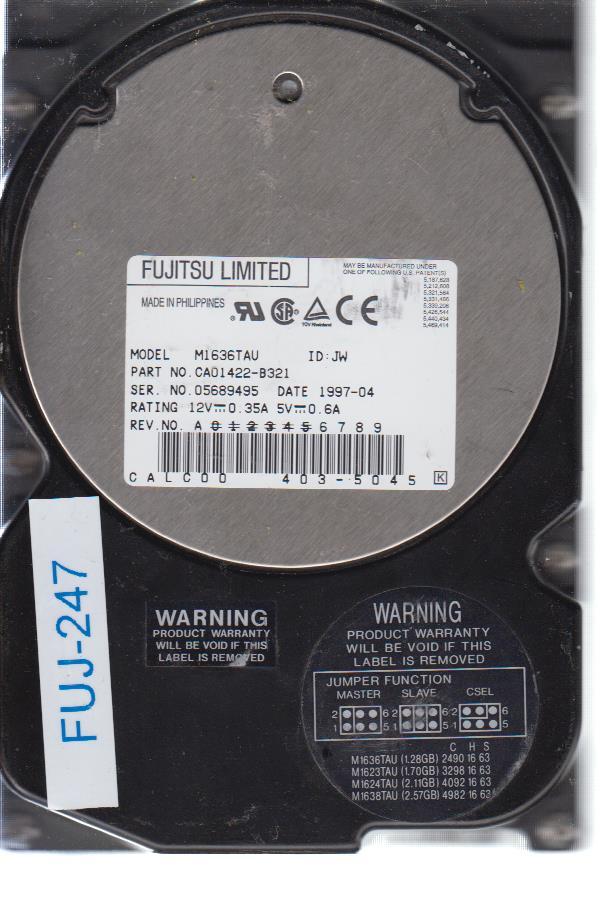 Fujitsu M1636TAU 1.28 GB