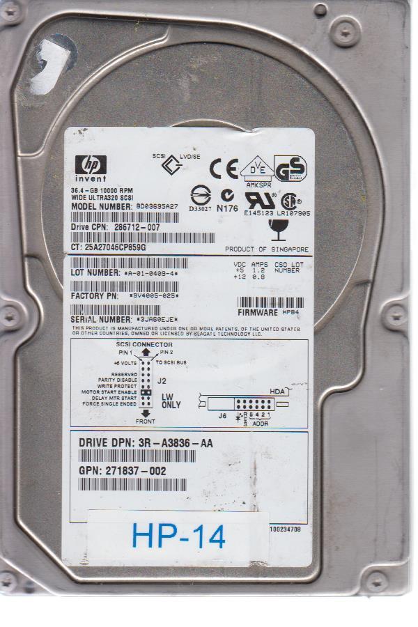 HP BD03695A27 36.4 GB