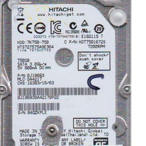 Hitachi HTS727575A9E364 750GB