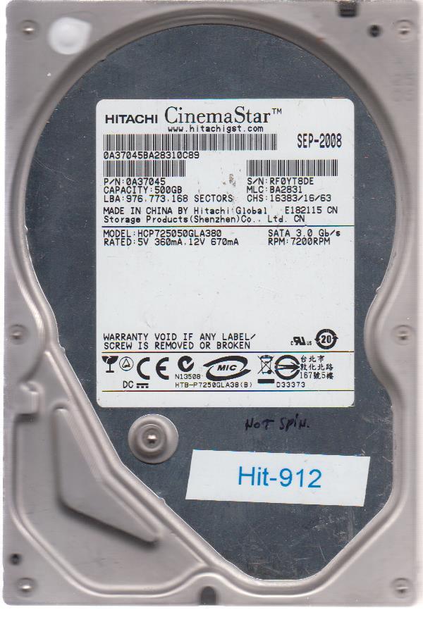 Hitachi HCP725050GLA380 500GB