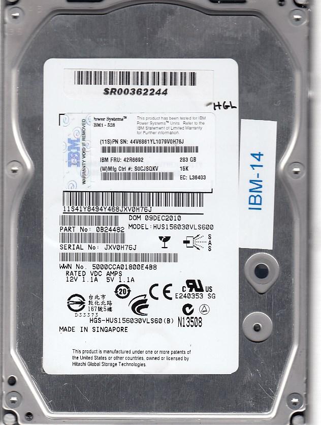 IBM HUS156030VLS600 283
