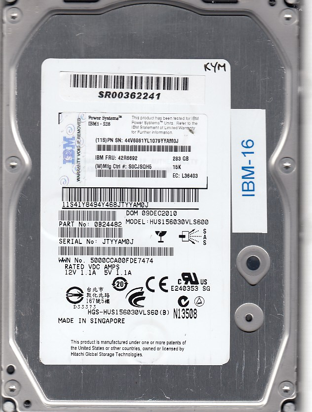 IBM HUS156030VLS600 283GB