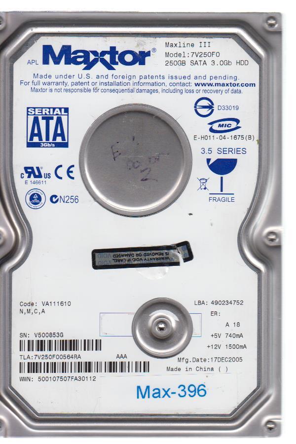 Maxtor 7V250F0 250GB