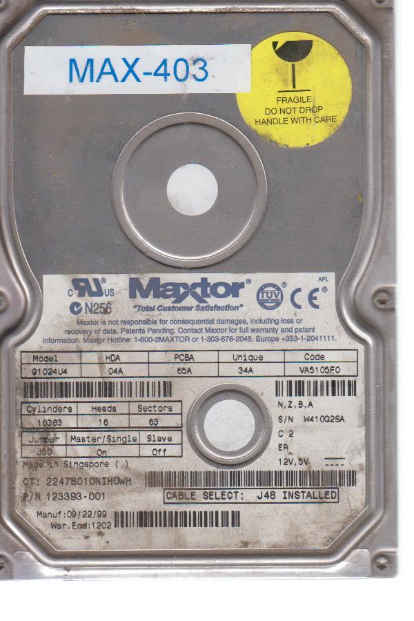 Maxtor 2247B010NIHOWH
