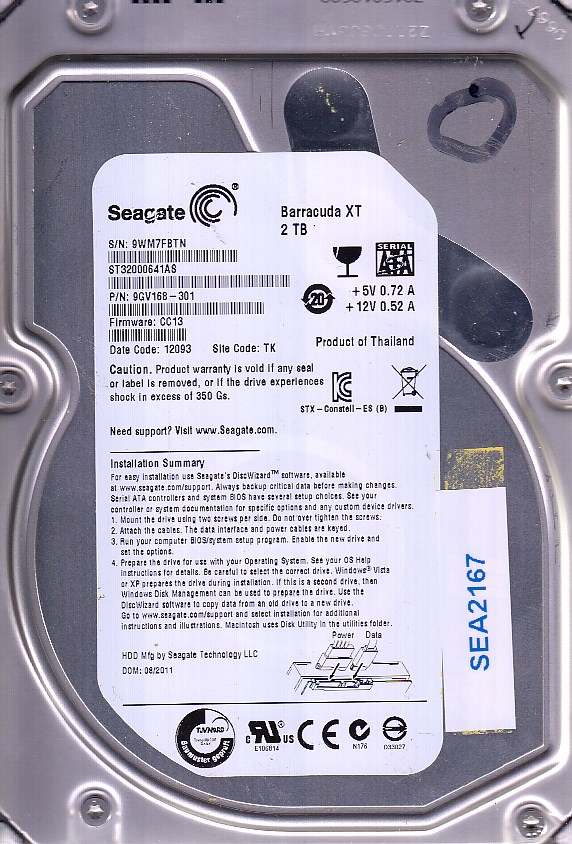 Seagate ST32000641AS 2TB
