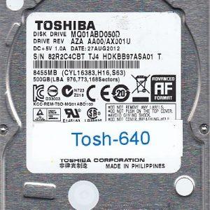 Toshiba MQ01ABD050D 500GB
