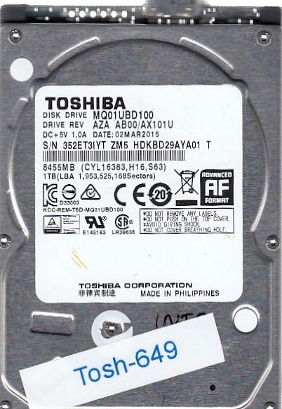 Toshiba MQ01UBD100 1TB