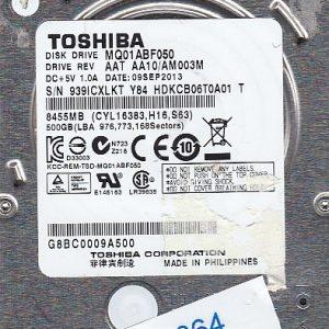 Toshiba MQ01ABF050 500GB