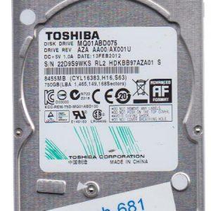 Toshiba MQ01ABD075 750GB
