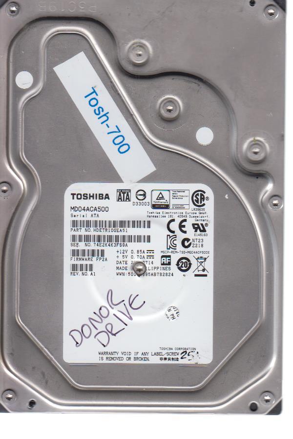 Toshiba MD04ACA500 4TB