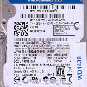 Western Digital WD5000BEVT-75ZAT0 500GB