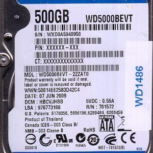 Western Digital WD5000BEVT-22ZAT0 500GB