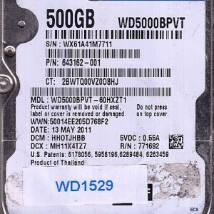 Western Digital WD5000BPVT-60HXZT1 500GB