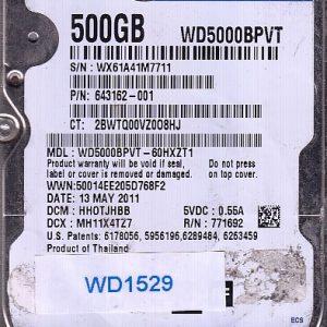 Western Digital WD5000BPVT-60HXZT1 500GB