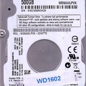 Western Digital WD5000LPVX-22V0TT0 500GB