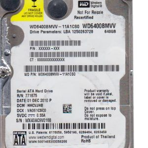 Western Digital WD6400BMVV-11A1CS0 640GB
