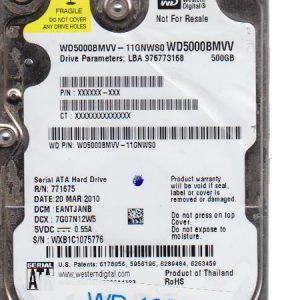 Western Digital WD5000BMVV-11GNWS0 500GB
