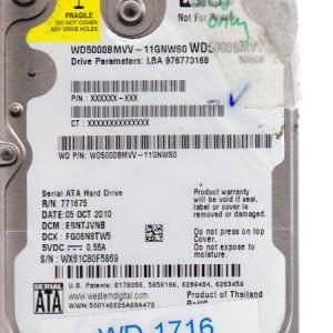 Western Digital WD5000BMVV-11GNWS0 500GB
