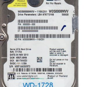 Western Digital WD5000BMVV-11SXZS1 500GB