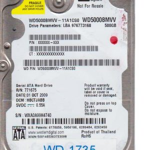 Western Digital WD5000BMVV-11A1CS0 500GB