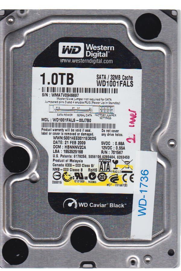 Western Digital WD1001FALS-00J7B0 1TB