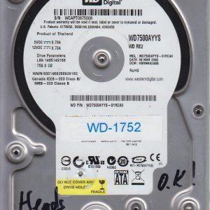 Western Digital WD7500AYYS-01RCA0 750GB