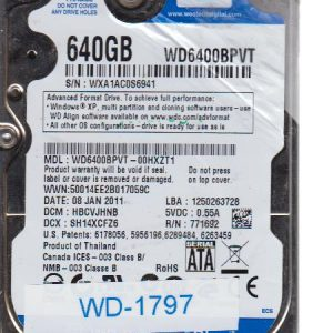 Western Digital WD6400BPVT-00HXZT1 640GB