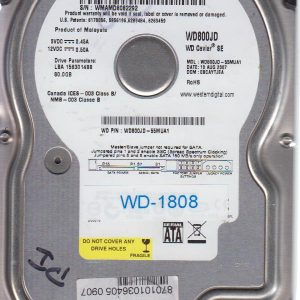 Western Digital WD800JD-55MUA1 80GB