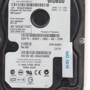 Western Digital WD800BB-75FRA0 80 GB