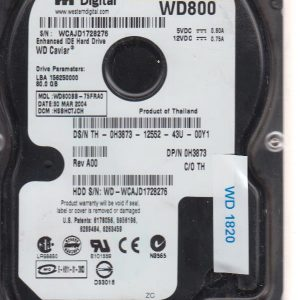 Western Digital WD800BB-75FRAO 80 GB