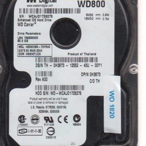Western Digital WD800BB-75FRAO 80 GB