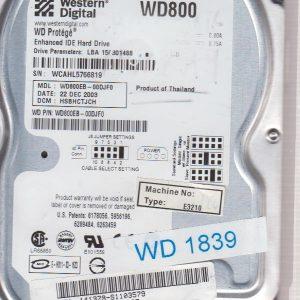 Western Digital WD800EB-00DJF0 80 GB