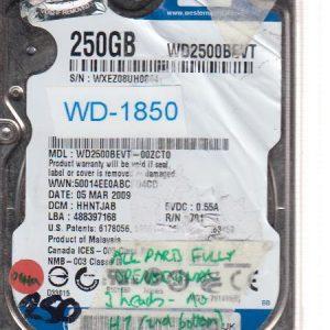 Western Digital WXEZ08UH0844 250GB