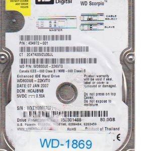 Western Digital WD800UE-22KVT0 80GB