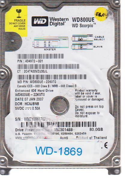 Western Digital WD800UE-22KVT0 80GB