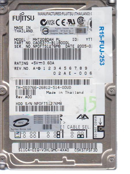 Fujitsu MHT2080AH 80 GB