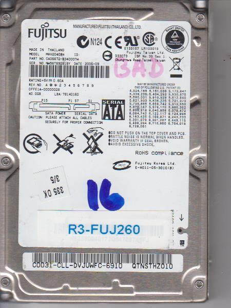 Fujitsu MHV2040GH 40GB