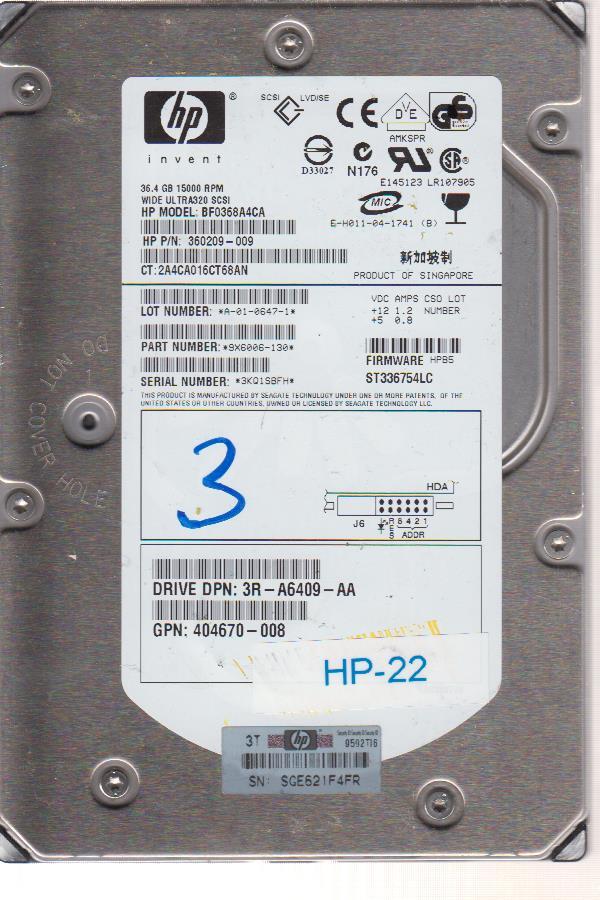 HP BF0368A4CA 36.4GB