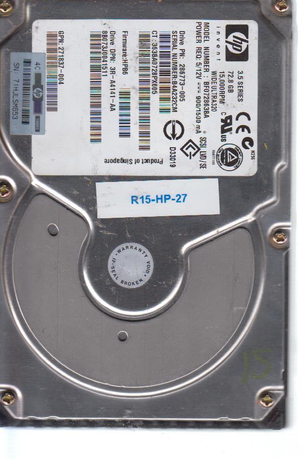 HP BF072863BA 72.8 GB