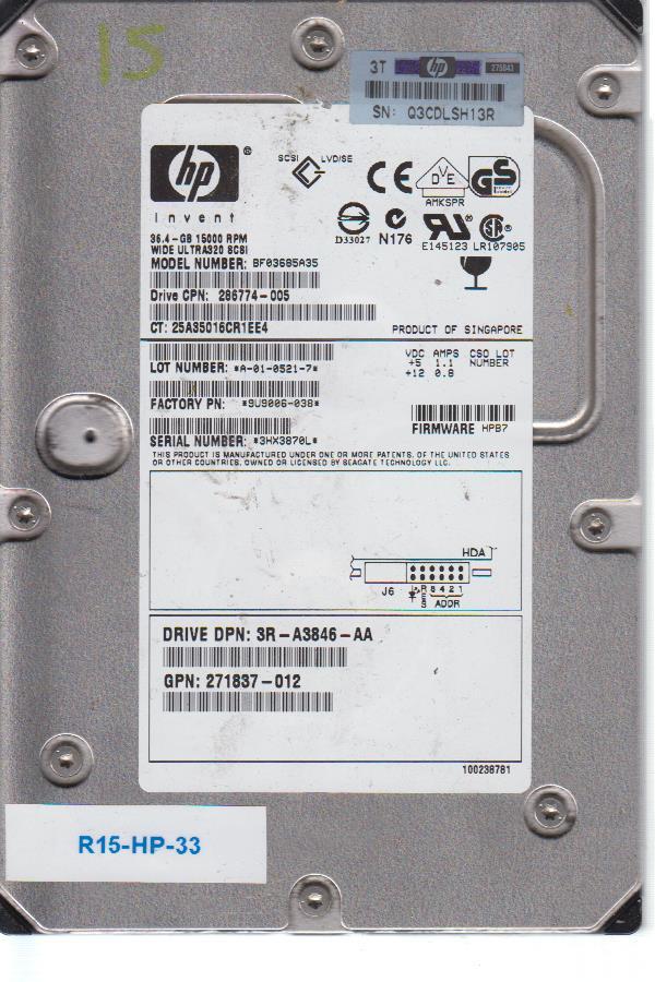 HP BF03685A35 36.4