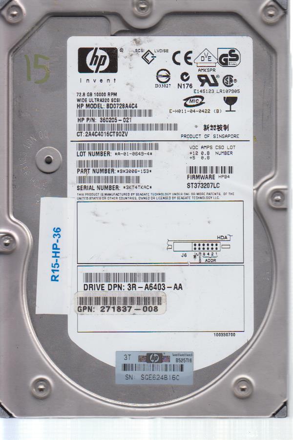 HP BD0728A4C4 72.8 GB