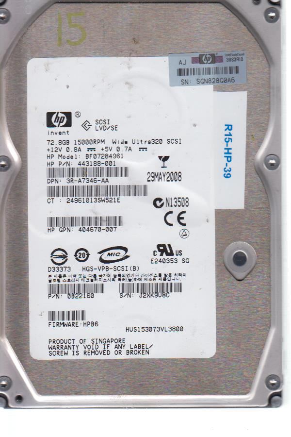HP BF07284961 72.8 GB