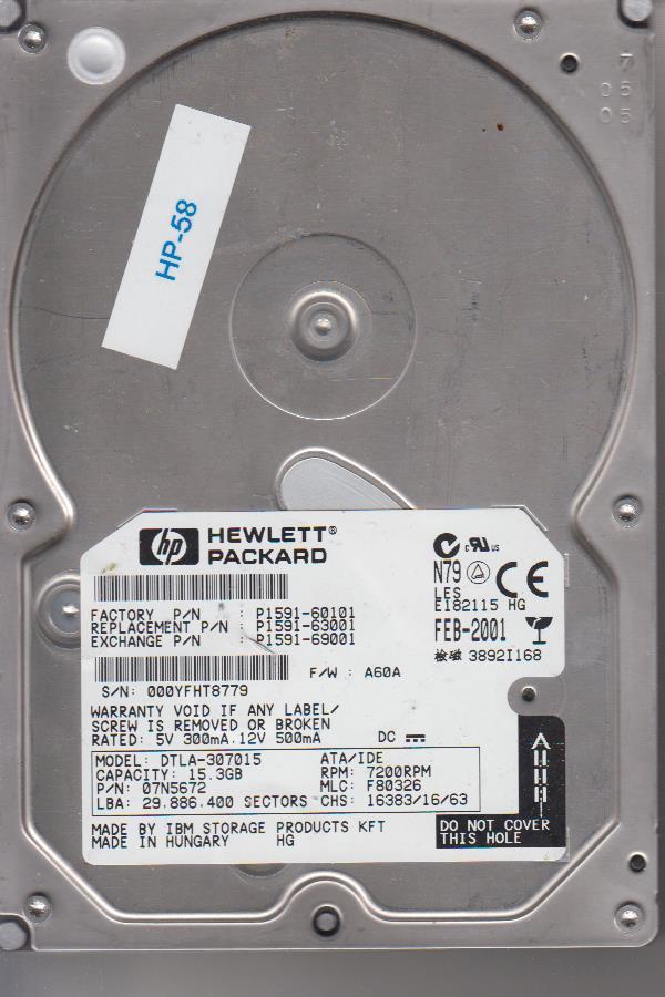 HP DTLA-307015 15.3GB