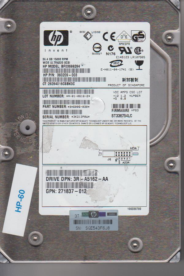 HP BF03688284 36.4GB