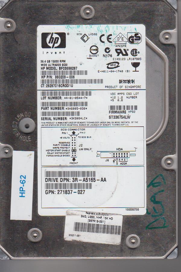 HP BF03698287 36.4GB